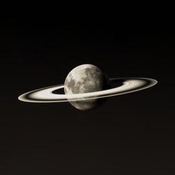 Moon Rings Night Celestial Body Rings Of Saturn