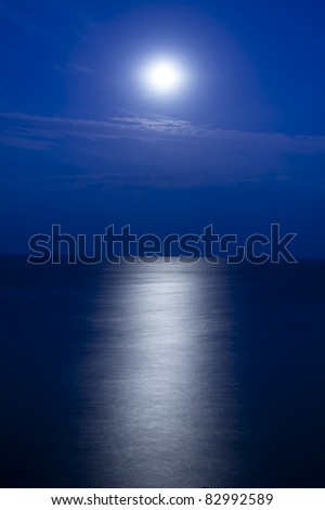 Moon's path to the sea