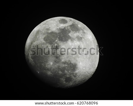 Moon Surface as wallpaper / The Moon is an astronomical body that orbits planet Earth, being Earth's only permanent natural satellite. It is the fifth-largest natural satellite in the Solar System