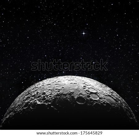 moon surface in space