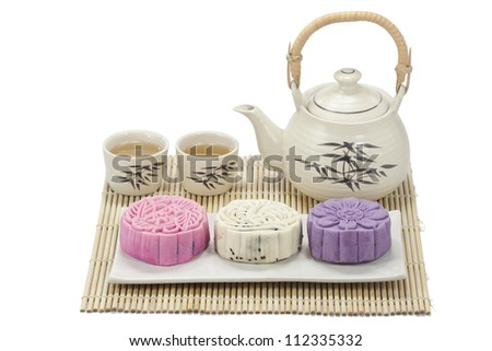 mooncake  with tea