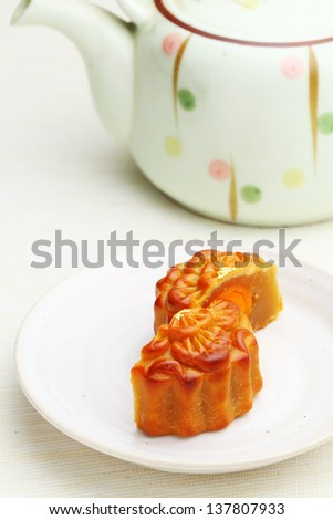 Mooncake with teapot