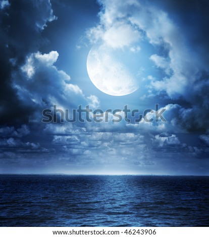 Moonlight - stock photo