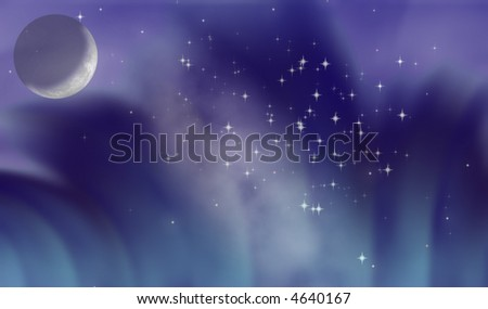 moonlight night. stock photo : Moonlight night
