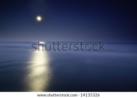 moonlighting in the sea, long eposure o capture the beauty of this nightscene