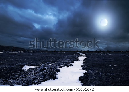 moonlight night sky. stock photo : moonlit night
