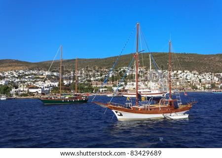 Moored yachts, Bodrum, Turkey