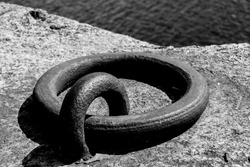 Mooring ring on the quayside