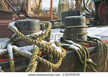 Mooring rope for pier bollards