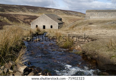 Moorland Steam and disused Lead Mine, View of the Yorkshire Dales