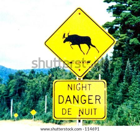 moose crossing sign ez canvas