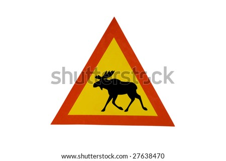 moose sign, isolated on white