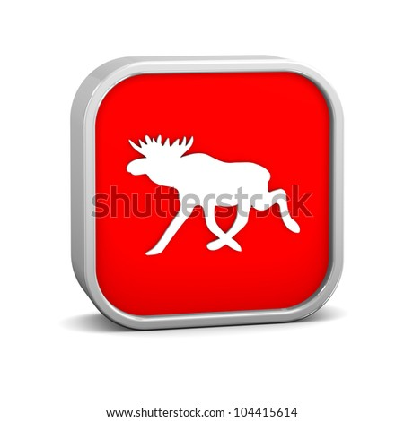 Moose sign on a white background. Part of a series.