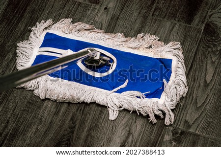 mopping the floor and cleaning it  Stock foto ©