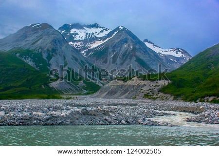 Moraine creek in Glacier Bay National Park.