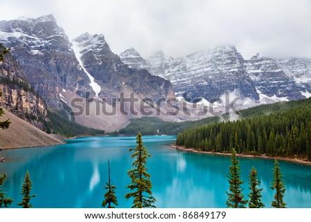 Moraine Lake. Banff National park. Alberta. Canada, Oct. 2011