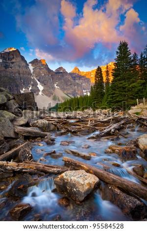 Moraine Lake Creek at Sunrise