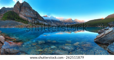 Moraine lake in Banff National Park, Canada,  Valley of the Ten Peaks - Shutterstock ID 262511879