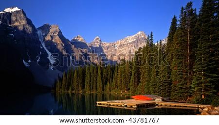 Moraine Lake in Banff National Park located in Alberta Canada.