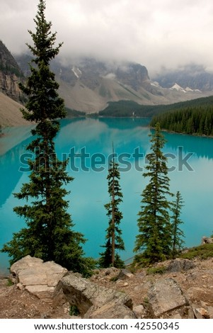 Moraine Lake in Canada.