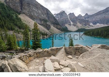 Moraine Lake in Lake Louise in Canada