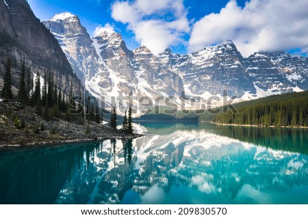 Photo of  Moraine Lake, Rocky Mountains, Canada
