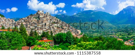 Morano Calabro - one of the most beautiful medieval  villages of Italy. Calabria #1115387558