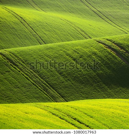 Moravian Tuscany – beautiful spring landscape in south Moravia near Kyjov town. Czech Republic - Europe. #1080017963