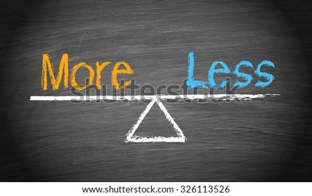 More and Less - Balance Concept