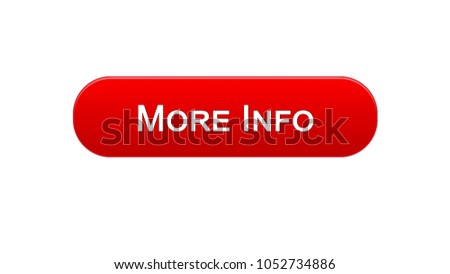 More info web interface button red color, internet site design, application Stock photo ©