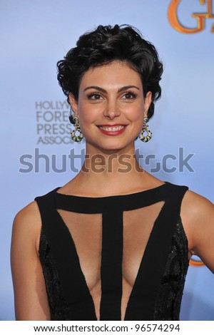 Morena Baccarin at the 69th Golden Globe Awards at the Beverly Hilton Hotel. January 15, 2012  Beverly Hills, CA Picture: Paul Smith / Featureflash