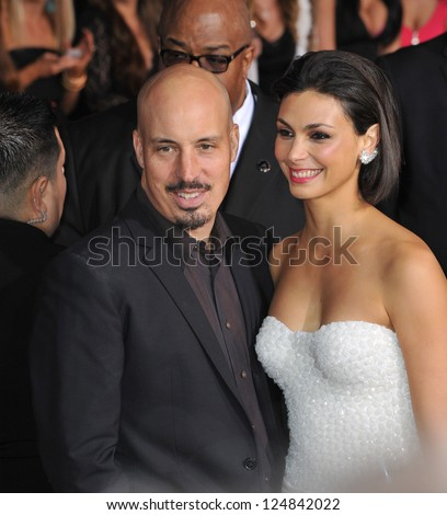 Morena Baccarin & husband Austin Chick at the People's Choice Awards 2013 at the Nokia Theatre L.A. Live. January 9, 2013  Los Angeles, CA Picture: Paul Smith