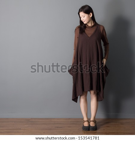 Mori Girl Asian woman model designer style