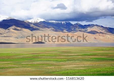 Moriri lake (Mountain lake) in Ladakh, India