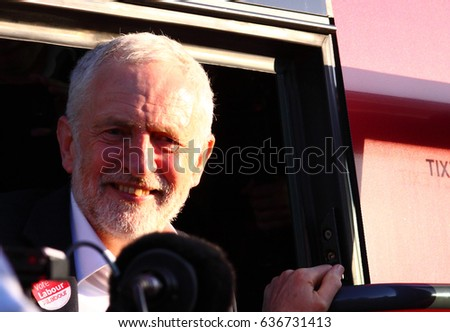 Morley, Leeds, England - 9th May 2017 The Labour campaign started with Jeremy Corbyn visiting Morley near Leeds, West Yorkshire. - Editorial