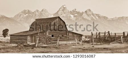Mormon Barn in Grand Teton National Park #1293016087