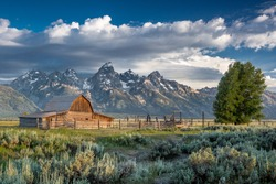 Mormon Row in Grand Teton National Park, Wyoming