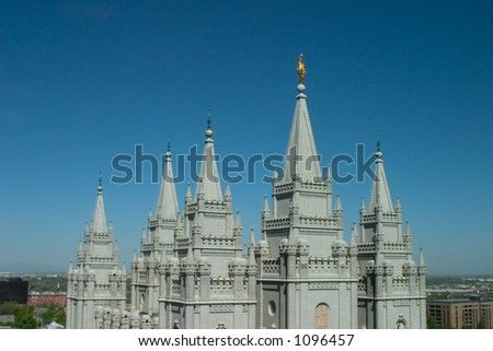 Mormon Temple in Salt Lake City is one of the city's most recognized landmarks and most visited destinations.