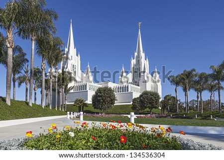 Mormon Temple - The San Diego California Temple is the 47th constructed and 45th operating temple of The Church of Jesus Christ of Latter-day Saints.