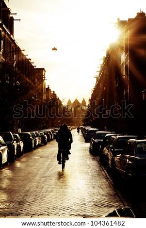 morning bicycle street