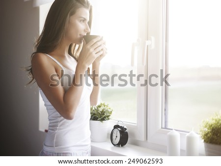 Morning coffee is my daily routine