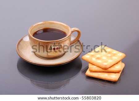 Morning coffee with biscuits