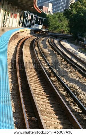 Morning Commute Train Tracks