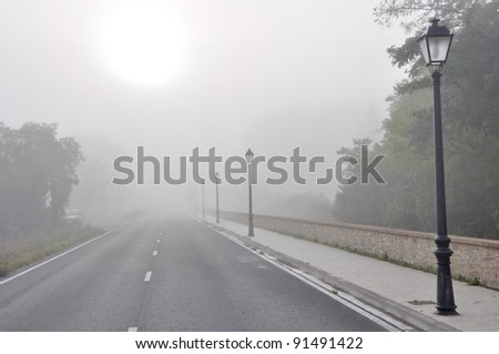 Morning fog, Basque Country
