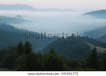 Morning fog mountains #545961772