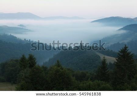 Morning fog mountains #545961838