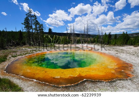 Morning Glory Pool at Yellowstone National Park