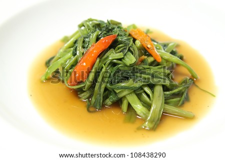 Morning glory,Stir Fried Water Spinach