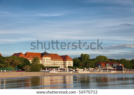 Morning in the holiday resort of Sopot, Poland.