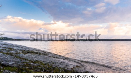 Photo of  Morning landscape view to the sea from Ruissalo National Park, Turku Finland. Shot September 2019.
